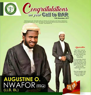 Okechukwu Austine Called to Bar