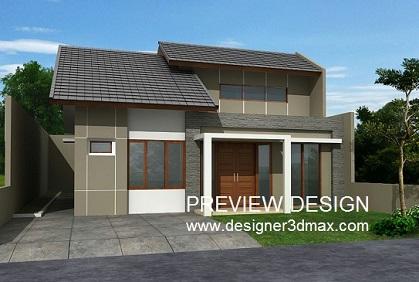 jasa gambar 3d renovasi rumah sederhana via online