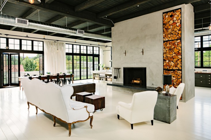 Elegant Industrial Loft Living Room