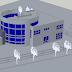 مركز المعارض الفنية 3D اوتوكاد dwg