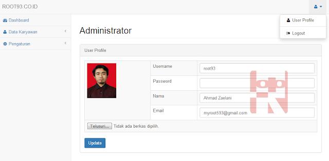 pengaturan untuk login ke aplikasi
