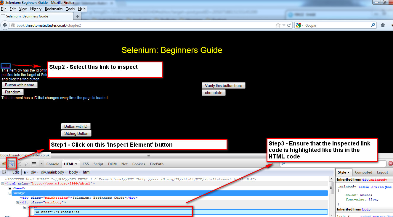Selenium-By-Arun: 24  Locate UI elements by Link
