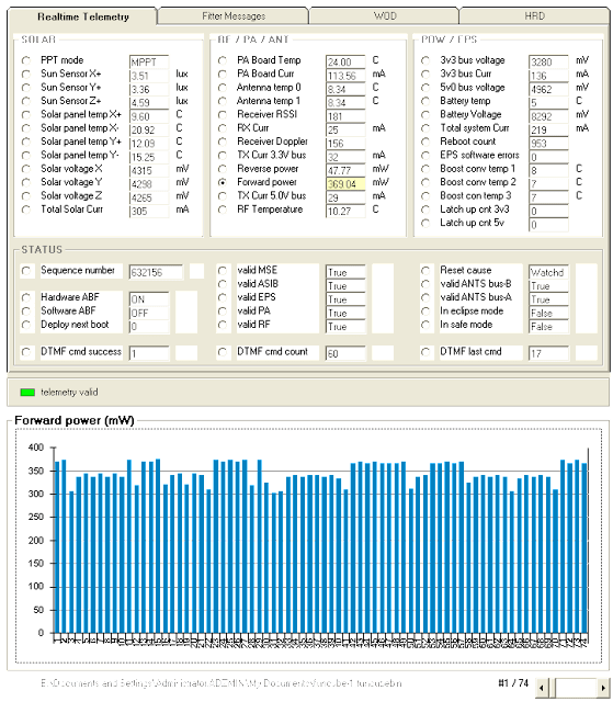 FUNCube-1 Telemetry Decoder