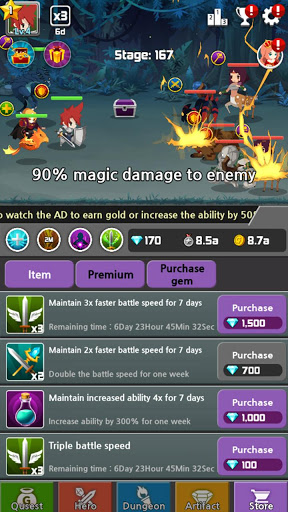 Dragon Warriors : Idle RPG Mod APK