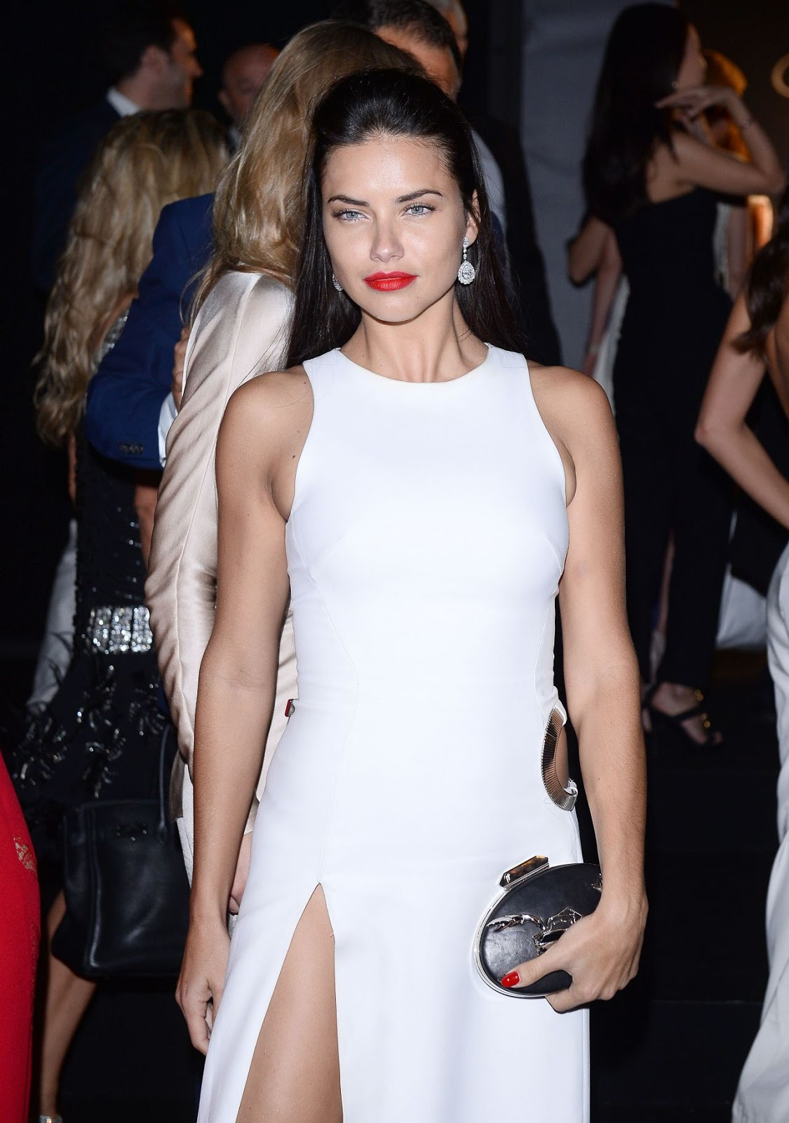 HQ Photos of Adriana Lima Soiree Chopard Gold Party 2015 Cannes Film Festival
