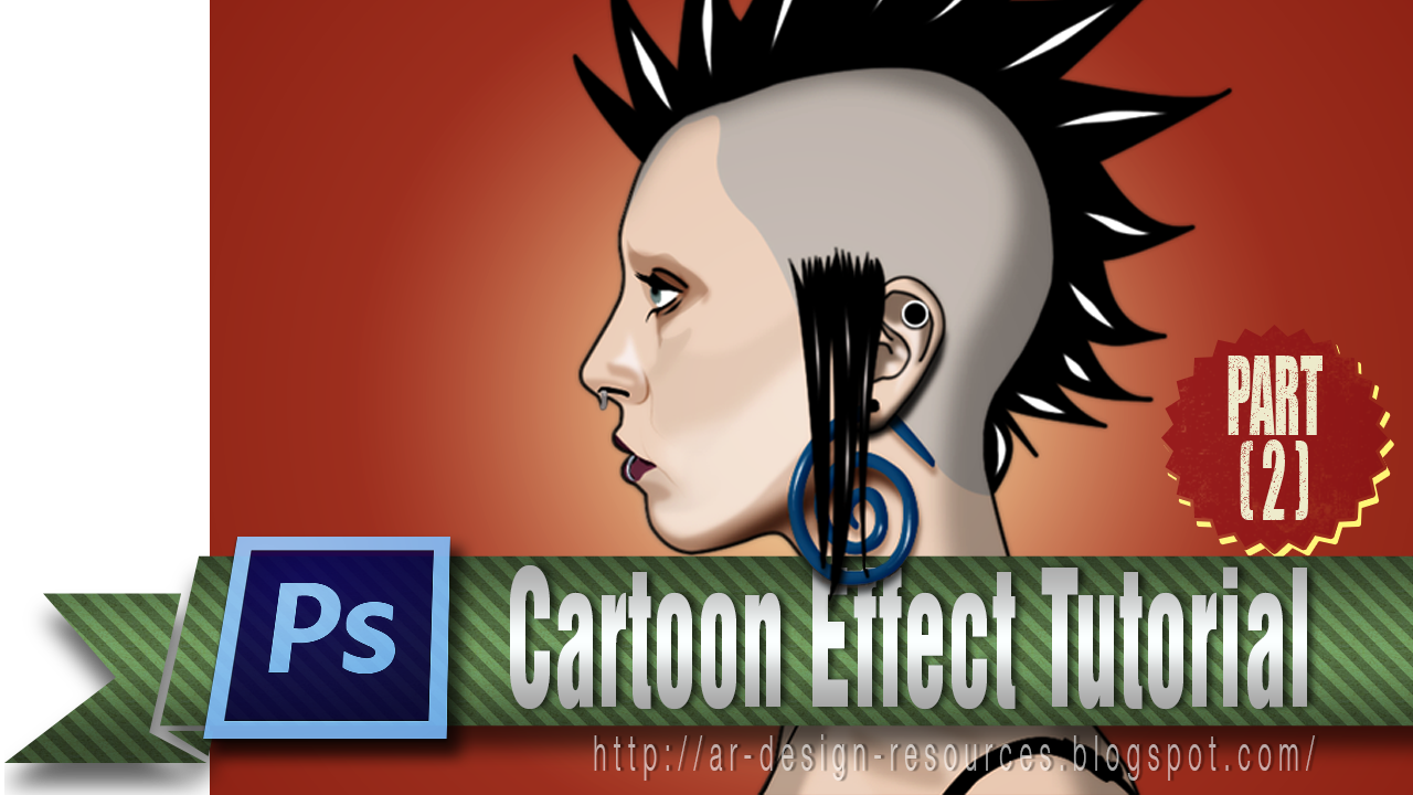 Cartoon Effect | Adobe Photoshop Tutorial PART 2