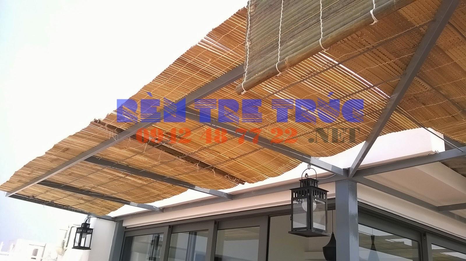 Rèm tre trúc chống mưa nắng giá rẻ