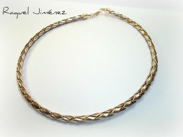 collar trenzado dorado