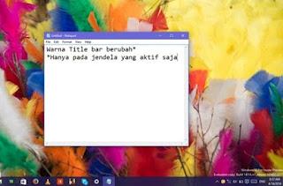 Cara Merubah Warna Start Menu, Taskbar, Action Center dan dan Title bar di Windows 10