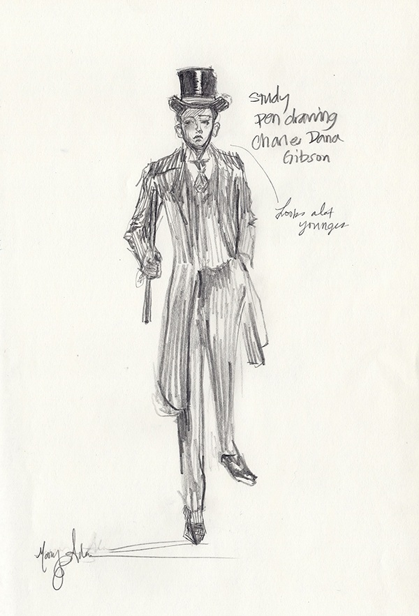 Master Copy After Charles Dana Gibson by Mary Highstreet