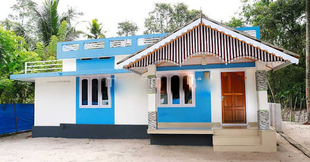 10 Lakhs Budget 2 Bedroom Kerala Home in 700 SqFt with Free Plan