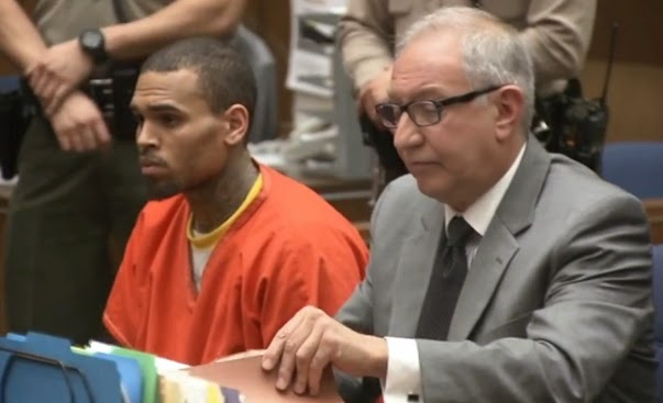 chris brown prison uniform