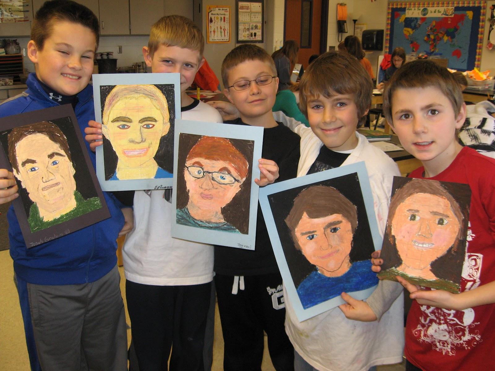 Jamestown Elementary Art Blog 4th Grade Self Portraits