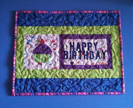 birthday mini quilt