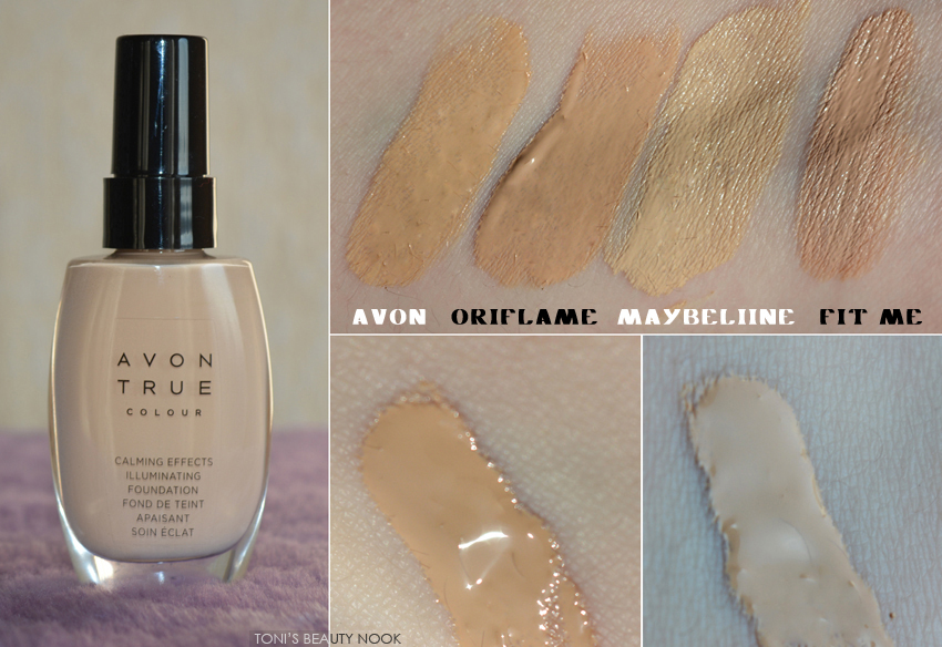 avon calming illuminating foundation nude