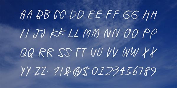 Font Keren Kapur Tulis (Chalk Font)