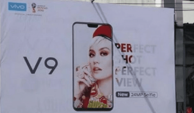Vivo V9 Smartphone Leaked with 24MP Selfie Camera & iPhone X-like Notch