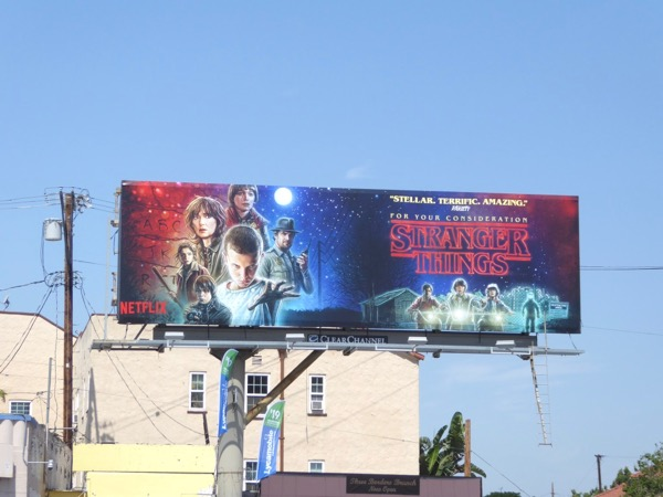 Stranger Things season 1 Emmy billboard