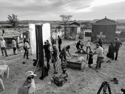 Preparativos para rodar uma cena de A 'Dona do Pedaço' — Foto: Leonardo Santos