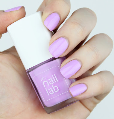 The Nail Lab Polish in Edna purple light purple lilac swatch