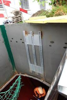 escalera silo de pellets