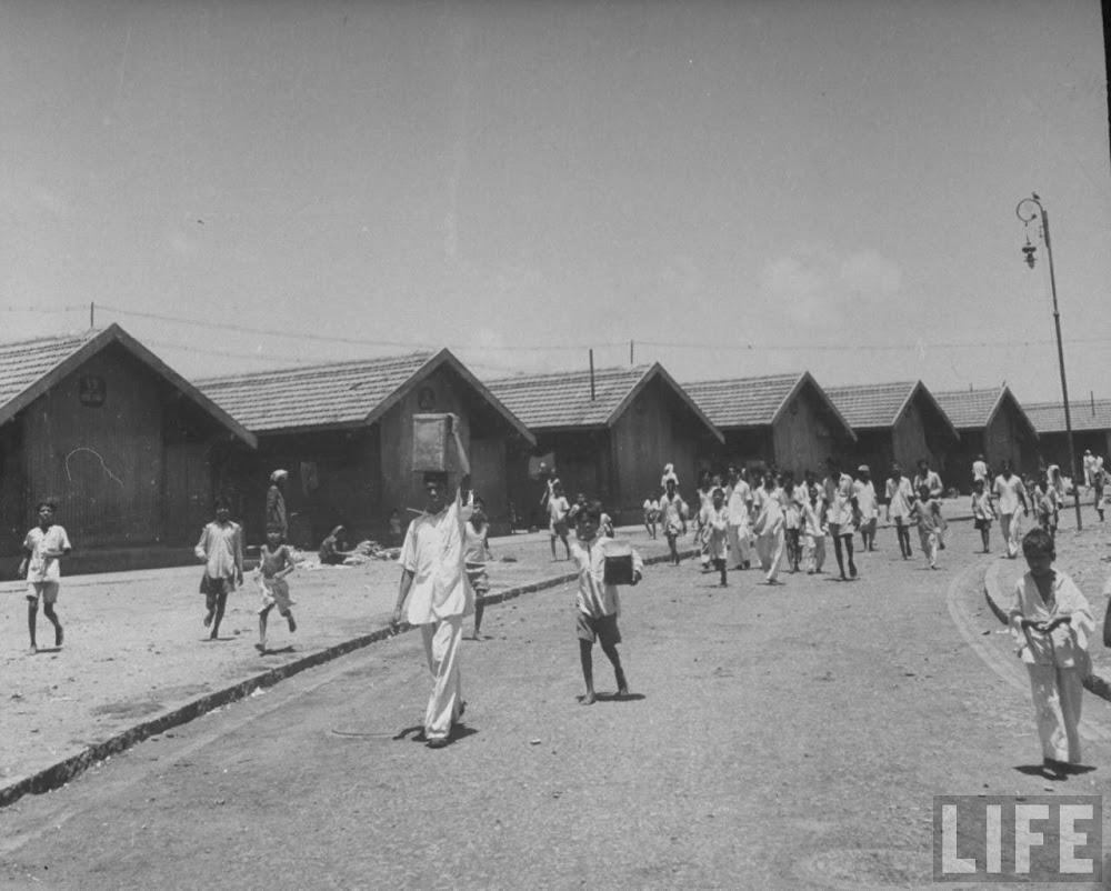 Indian children walking on street