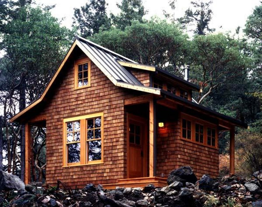 Little Classic Cabin House Design on Orcas Island - TOP 7 ...