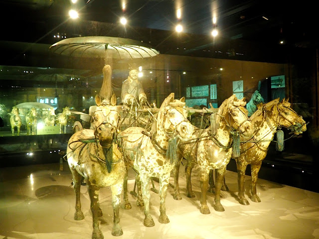 Bronze horses and chariot from the Terracotta Army, Xian, China
