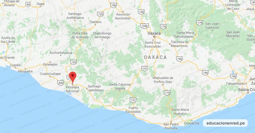 Temblor en México de Magnitud 4.0 (Hoy Jueves 30 Julio 2020) Sismo - Epicentro - Pinotepa Nacional - Oaxaca - OAX. - SSN - www.ssn.unam.mx