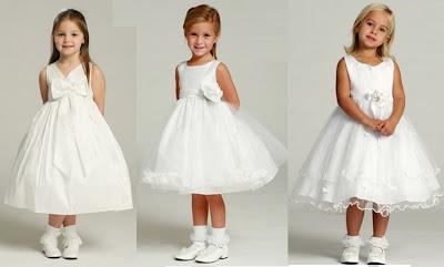 Vestidos de nina de fiesta blancos