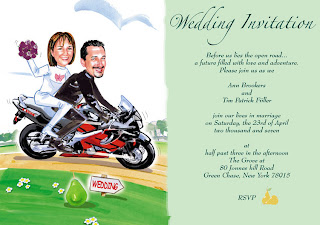 Motorcycle Wedding Invitations Motorcycle Wedding Invitations By
