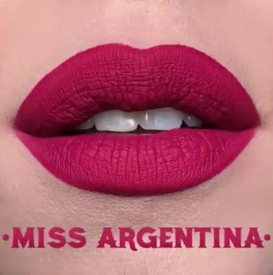 kat von d Everlasting Liquid Lipstick lip swatch miss argentina