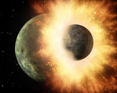 Tabrakan Planet Theia dengan Bumi