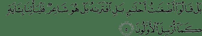 Surat Al Anbiya Ayat 5