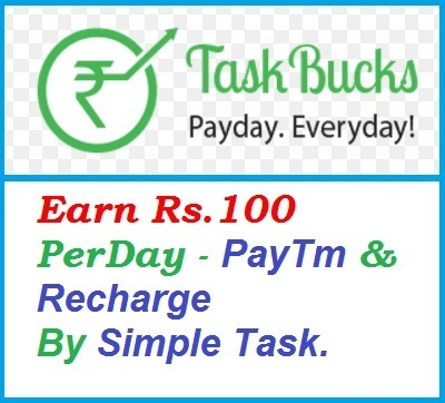 Taskbucks Get Wallet Cash Recharge PayTm