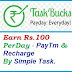 Earn Paytm Cash Online By TaskBucks App In Hindi - Rs.100 Daily.