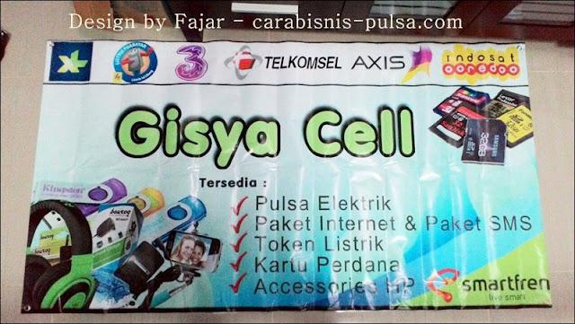 Hasil Cetak Banner Gisya Cell