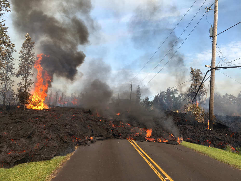 Incredible Video Of Lava Flowing Down Hawaiian Streets