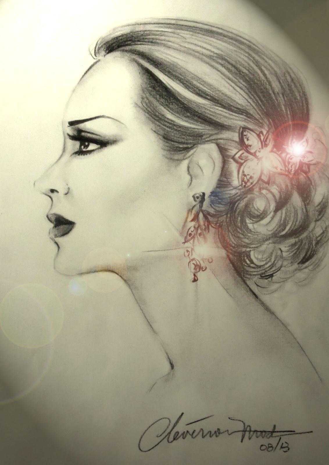 Desenhos De Moda Desenho De Rosto De Mulher De Perfil