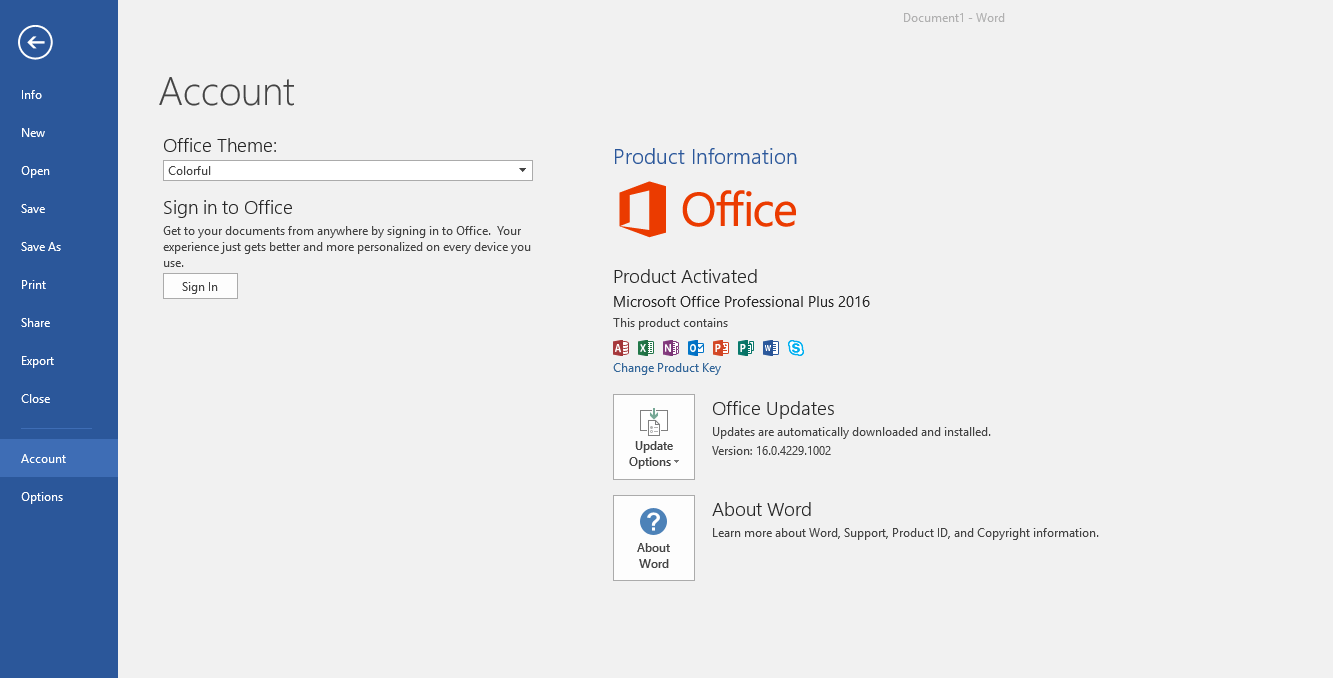 how to check if office 2016 is activated