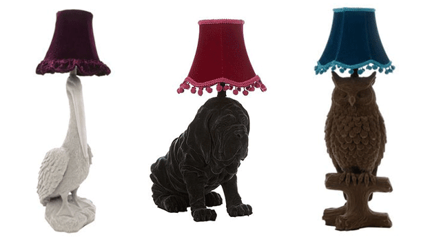 Animaux lampes - Abigail Ahern