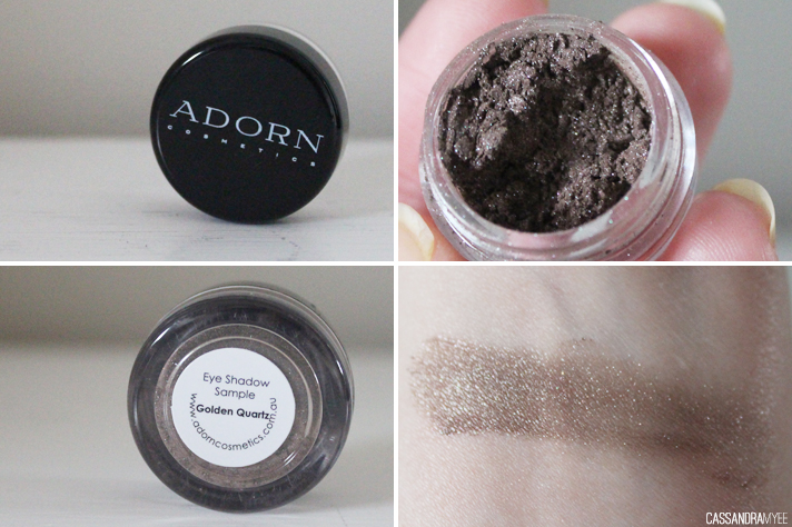 VIOLET BOX // May '14 Unboxing + Initial Thoughts - Adorn Eyeshadow in Golden Quartz - cassandramyee
