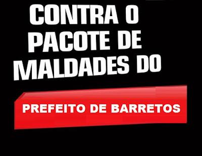 Crônica Dominical 17/12/2017 – Prefeito de Barretos envia um pacote de maldades para votação na Câmara Municipal contra o povo, com taxas de lixo, cemitério e criação de cargo comissionado entre outros