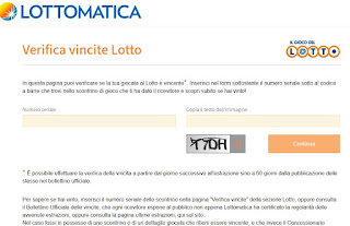 Verifica Vincite del Lotto