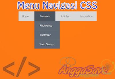 Cara Mudah Membuat Menu Navigasi Blog Dengan CSS