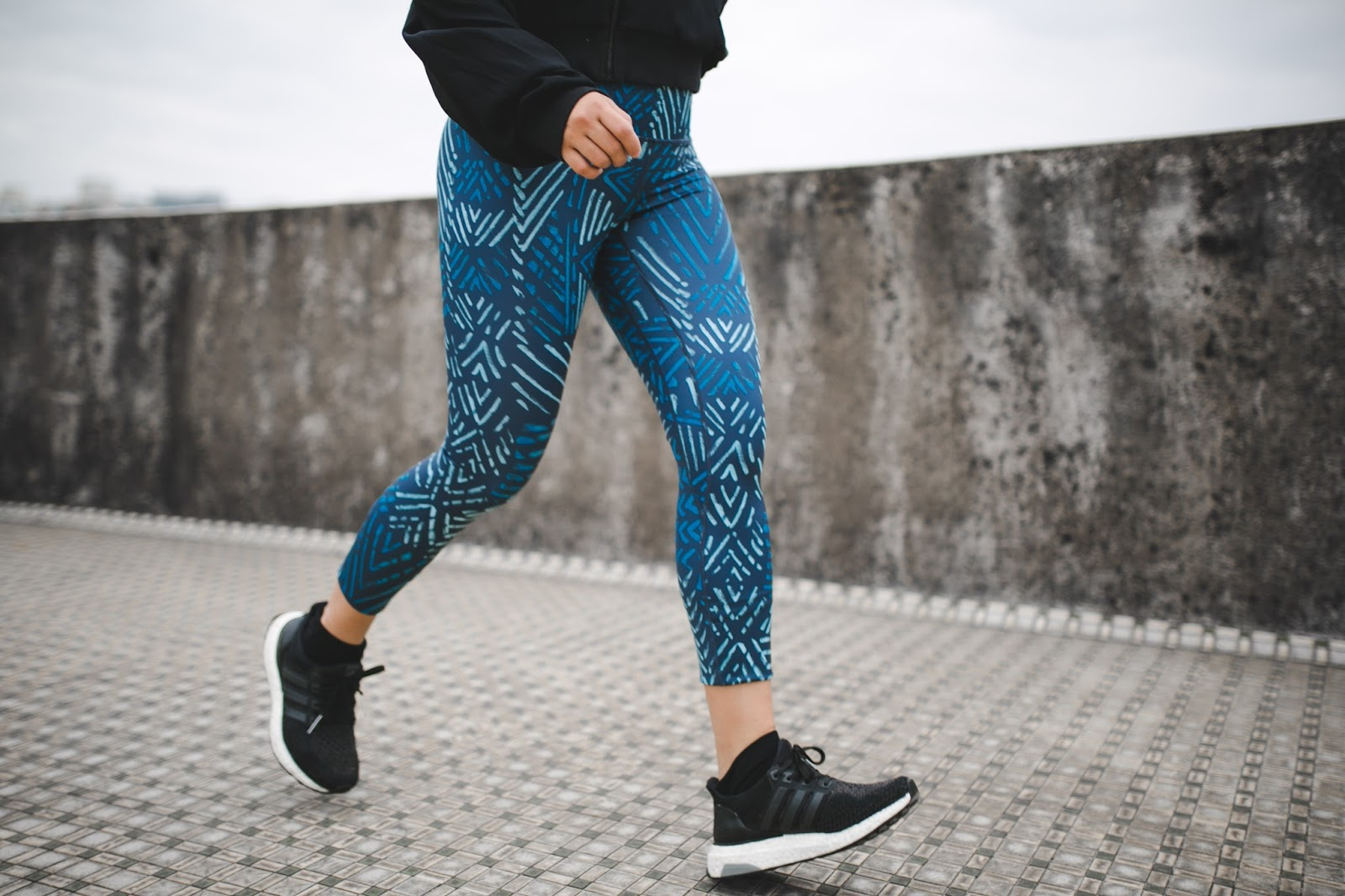 Running in Rising Lotus Activewear