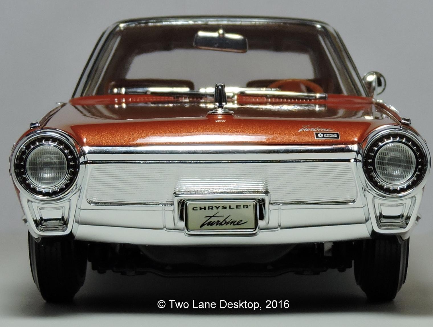 Chrysler Turbine Car: Two Lane Desktop: Yatming 1:18 1963 Chrysler Turbine Car