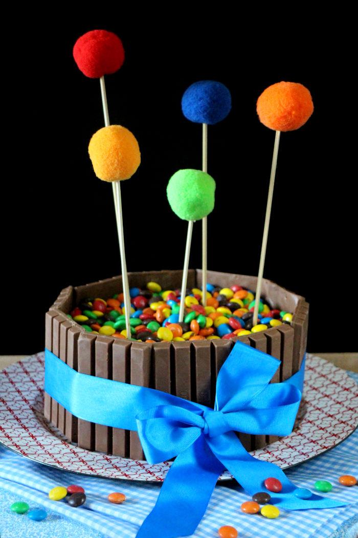 tarta-kit-kat, kit-kat, m&m, tarta-cumpleaños