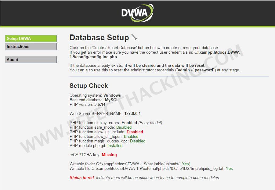 How To Setup DVWA Using XAMPP (Windows Tutorial) - Effect