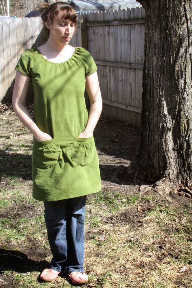 Simplicity 3835 in Green Corduroy by Anne Butera of My Giant Strawberry